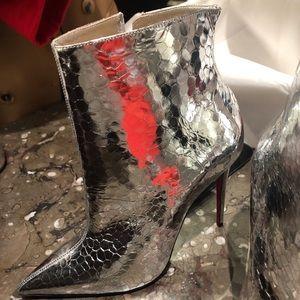 So Kate Craquelé Leather Ankle Boots